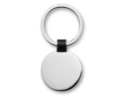 Kulatá kovová klíčenka QUIANA - černá