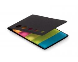 Sada barevných lepicích papírků AVENS v deskách s průhledy - černá