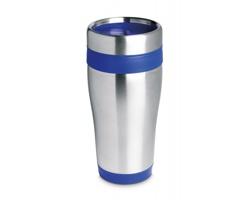 Nerezový termohrnek GLAND na cesty, 455ml - modrá