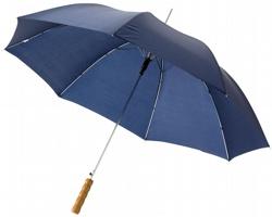 Automatický deštník SLIM s dřevěnou rukojetí - námořní modrá