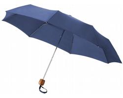 Trojdílný deštník CUSS s pouzdrem - námořní modrá