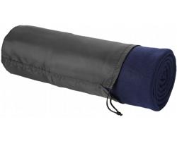 Fleecová deka LATENCY s pouzdrem - námořní modrá