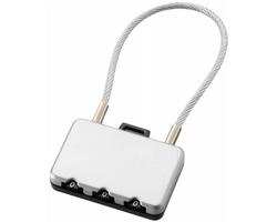 Bezpečnostní zámek na zavazadla REEDS - stříbrná