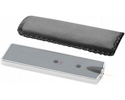 Laserové ukazovátko s LED světlem HONE v koženkovém pouzdře - bílá
