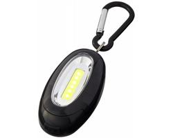 Plastová LED svítilna BRIO s magnetem a karabinou - černá