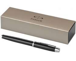 Kovové plnicí pero Parker IM FOUNTAIN PEN - černá / stříbrná