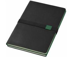 Zápisník 2 v 1 Journalbooks DOPPIO, formát A5 - černá / zelená