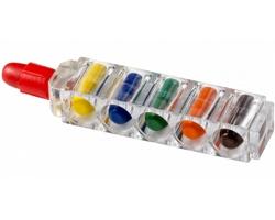 Plastová sada voskovek JETS v průhledném pouzdru, 6 ks - transparentní čirá