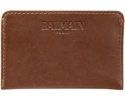 Kožená peněženka Balmain RUGBY na karty a vizitky - hnědá
