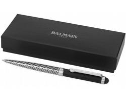 Kuličkové pero Balmain KLIE se stylusem - stříbrná / černá