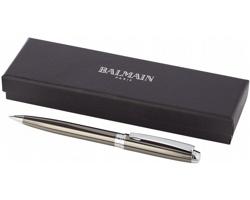 Značkové kovové kuličkové pero Balmain BELIA v dárkové krabičce - metalická