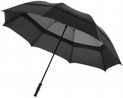 Dvouvrstvý bouřkový deštník Slazenger YORK STORM zabraňující převrácení se ve větru - černá