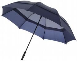 Dvouvrstvý bouřkový deštník Slazenger YORK STORM zabraňující převrácení se ve větru - námořní modrá