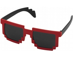 Plastové designové sluneční brýle PIXELY - černá / červená