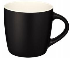 Keramický hrnek DOGGO s barevným kontrastem, 350 ml - černá / bílá