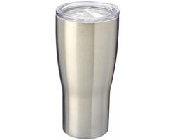Nerezový termohrnek BRINDA s keramickým obkladem, 500 ml - stříbrná