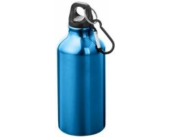 Kovová nápojová láhev CLIMB s karabinou, 350ml - modrá