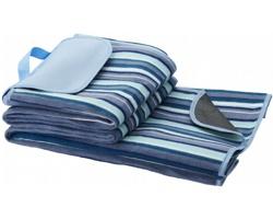 Pikniková deka JUXTA s nepromokavou podšívkou - bílá / modrá