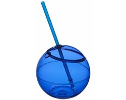 Nádoba na pití ve tvaru koule se slámkou MEATS, 580 ml - královská modrá