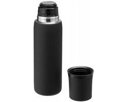 Vakuová termoska SPLIT 500 ml se šálkem - černá