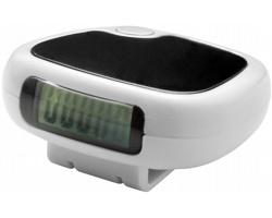 Krokoměr EAST s LCD displejem a klipem na opasek - bílá / černá