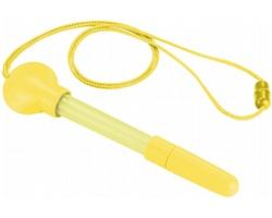 Plastové kuličkové pero SILLS s integrovaným bublifukem, 5 ml - žlutá