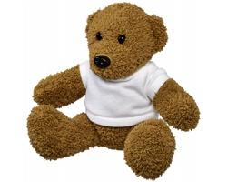 Plyšová hračka medvídek EPEE v tričku - bílá