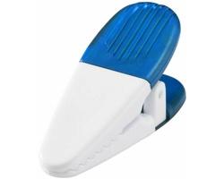 Magnetický držák HOGTY s klipem na vzkazy - transparentní modrá / bílá
