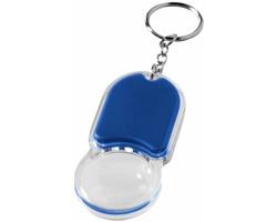 Plastový přívěsek na klíče PRIDE svítilna s lupou - královská modrá