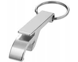 Hliníkový přívěsek na klíče ODDER otvírák lahví a konzerv - stříbrná