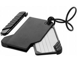 Cestovní zavazadlová visačka s perem CIVET - černá