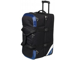 Velká polyesterová cestovní taška Slazenger WEMBLEY LARGE TRAVEL BAG s kolečky - černá / modrá