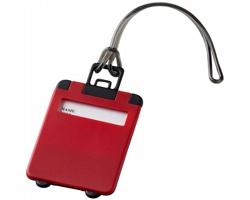 Výklopná zavazadlová visačka DONOR - červená