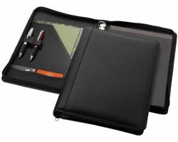 Kožené konferenční desky MILCH s poznámkovým blokem - černá
