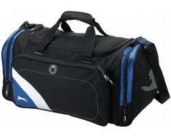 Sportovní taška Slazenger WEMBLEY s identifikačním okénkem - černá / modrá