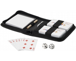 Sada hracích karet JOKER a kostky - černá