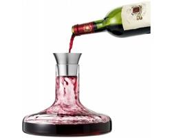 Sada pro dekantování vína FECIT, 750 ml v dárkovém balení - transparentní čirá