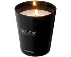 Vonná skleněná svíčka Seasons LUNAR SCENTED CANDLE v dárkové kazetě - černá