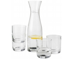 Skleněná karafa se 4 sklenicemi Paul Bocuse PRESTIGE v dárkové kazetě - transparentní čirá
