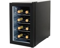 Kovová domácí vinotéka GLEN DANIEL pro 8 lahví a vnitřím přepínačem teplot - černá