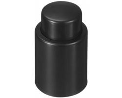 Plastová samouzavírací zátka na víno TRIOR - černá