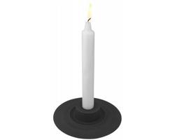 Hliníkový designový svícen Lena Bergstrom DIDOS  v dárkovém balení - černá
