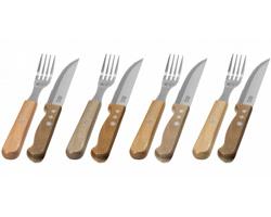Sada steakových příborů ze dřeva a nerezové oceli Jamie Oliver JUMBO SET, 8 ks - hnědá
