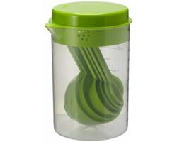 Sada odměrek HALT v plastové nádobě, 0,5 l - jemně zelená