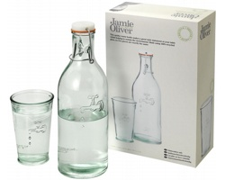 Recyklovaná karafa na vodu se sklenicí Jamie Oliver WATER CARAFE se sklenicí - transparentní