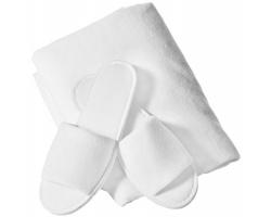 Wellness dárková sada ručníku a nazouváků Seasons CARLTON - bílá