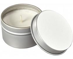 Vanilková vonná svíčka PASSADES v plechovce - stříbrná