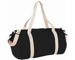 Bavlněná taška HERD s odepínacím popruhem - černá