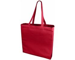 Velká bavlněná taška PACED se zpevněným dnem - červená
