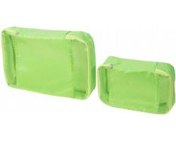 Sada dvou polyesterových cestovních tašek KABOB - jemně zelená